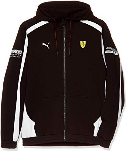 PUMA Blouson en Sweat Ferrari avec Capuche pour Homme Puma Black S