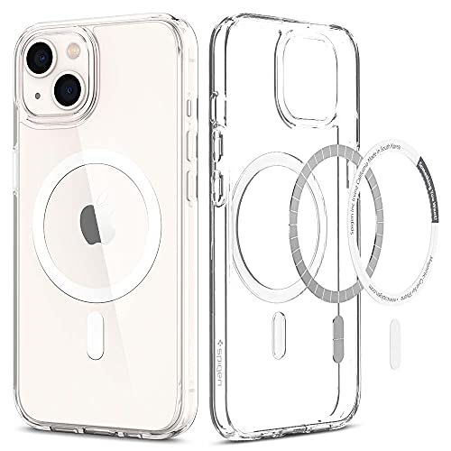 Spigen Ultra Hybrid Mag Back Cover Case Compatible with iPhone 13 (TPU + Poly Carbonate | White)