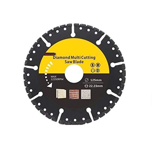 SANKUAI 1pc 125 Millimetri Diamante Lama di Sega Circolare Multi Taglio Multiuso Angle Universal Disc Grinder Sega Disc Accessori for elettroutensili (Colore : 22.23mm, Taglia : 125mm)