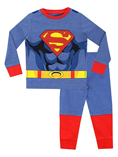 DC Comics Jungen Schlafanzug mit Umhang Superman Blau 104