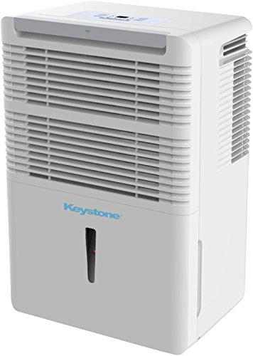 Keystone 50-Pint High Efficiency Dehumidifier for The Dampest Large Rooms/Basements with Continuous Drain and Turbo Boost – Quiet Moisture Removal to Prevent Mildew, Allergens, Mold
