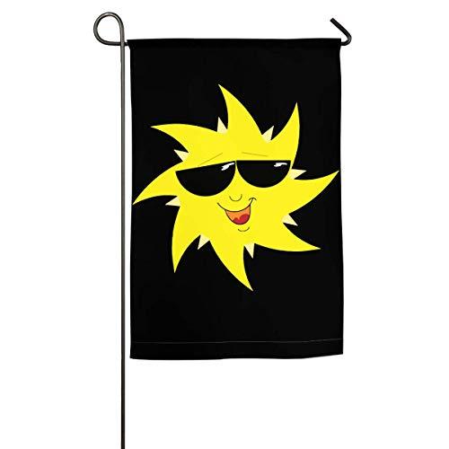 Kxxhvk Guardia Bandera Sol con Gafas Bandera Familiar Bandera de jardín Uso Decorativo Interior o Exterior 12