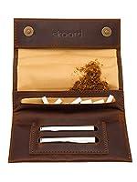 Une excellente durabilité : Le cuir brun véritable utilisé fait de cette pochette à tabac un étui visiblement robuste, qui développera son propre patin et caractère au fil du temps. Conservez plus de feuilles grâce au DOUBLE-COMPARTIMENT : Avec deux ...