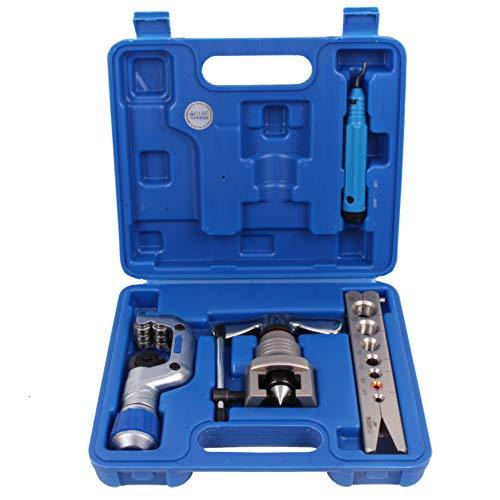 CCLIFE Metrisch Bördelgerät Bördelwerkzeug Taumelbördelgerät 5-16MM für R407c/R410a mit Rohrabschneider