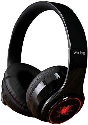 Audífonos 2019 con micrófono, auriculares inalámbricos con cancelación de ruido, tarjeta TF y radio FM, nombre del color: azul (color: azul) (color: negro) 1yess (color rojo) xuwuhz