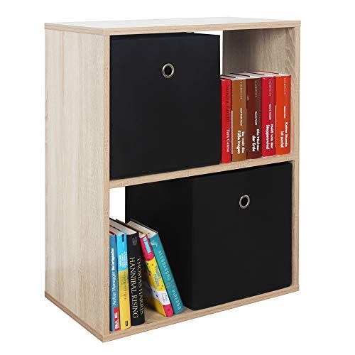 RICOO WM111-ES Estantería 71 x 60 x 31 cm Comoda pequeña Moderna Mueble Dormitorio Muebles de hogar Estante Zapatero Madera Color Roble marrón