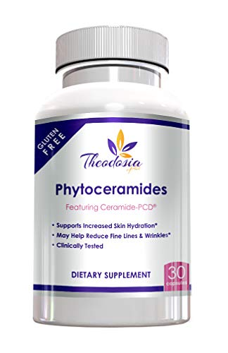 Phytoceramides with Ceramide-PCD® from Rice - 40mg Capsule- Supports Anti-Aging, Wrinkles, Hydration and More - All Natural & Gluten Free