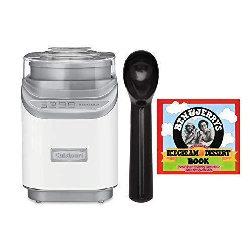 Cuisinart ICE-60W Cool Creations Ice Cream Maker with Non-Stick Ice Cream Scoop and Ice Cream Recipe Book Bundle (3 Items)