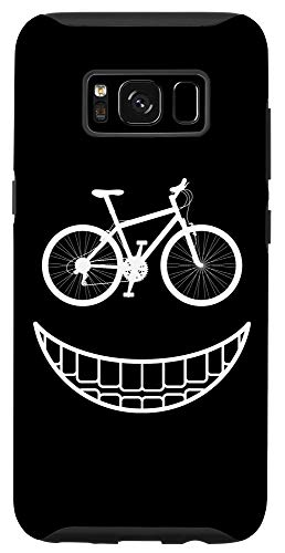 Galaxy S8 Bike Smiley Face Funny MTB Cycling Case