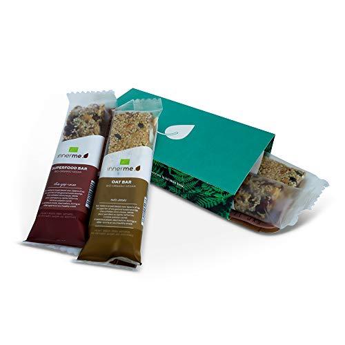 INNERME – Oat Bars (2 x 40 g) + Superfood Bars (2 x 40 g) – vegan & biologische mueslirepen – zonder geraffineerde…