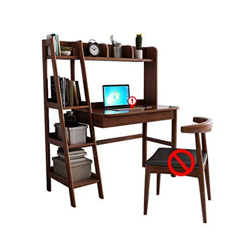 XSN Ergonomisch Kinderschreibtisch,Schreibtisch,Schülerschreibtisch Bücherregal Mit Massivholzlager, Zwei Schubladen,Starke Und Stabile Tischbeine