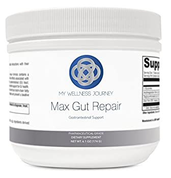 L-Glutamine with Aloe- Max Gut Repair- Support for Mucosal Lining Leaky Gut and GI Health- Promotes Healthy Gut Microflora- Pharmaceutical Grade- 30 Servings 6.1 oz  174 g