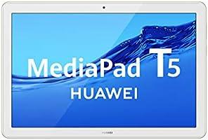 """HUAWEI MediaPad T5 - Tablet de 10.1"""" FullHD (Wifi, RAM de 3GB, ROM de 32GB, Android 8.0, EMUI 8.0), Color Blanco y Oro..."""