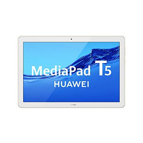 "HUAWEI MediaPad T5 - Tablet de 10.1"" FullHD (Wifi, RAM de 3GB, ROM de 32GB, Android 8.0, EMUI 8.0), color Blanco y Oro (Champagne Gold)"