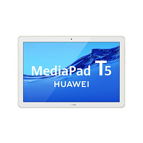 HUAWEI MediaPad T5 - Tablet de 10.1' FullHD (Wifi, RAM de 3GB, ROM de 32GB, Android 8.0, EMUI 8.0), Color Blanco y Oro (Champagne Gold)