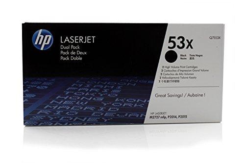 HP LaserJet Professional P 2012 n - Original Hewlett Packard Q7553XD / 53X Toner Black Doppelpack -