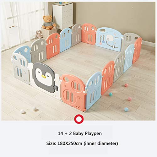 Best Deals! Baby Playpen 16 Panel Activity Center Safety Playard with Door Lock, Kid's Fence Indoor ...