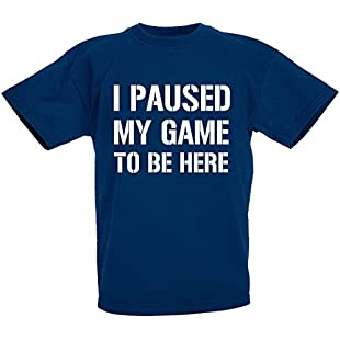 Customer reviews loltops I Paused My Game to Be Here Novelty T-Shirt for Boys, Kids (12-13 Years, Navy):Peliculas-gratis