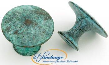 Messingknopf Shabby Chic Linea blu groß 38 mm - Qualität aus Europa seit 1998