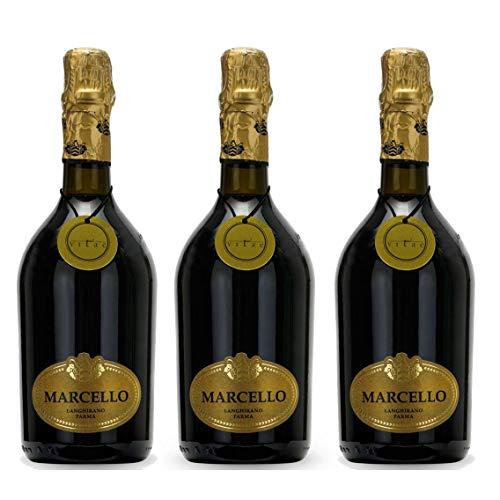 3 Bottiglie di Marcello Lambrusco dell'Emilia IGP 75 cl