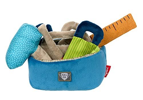 SIGIKID 42722 Werkzeugkiste Play & Cool Mädchen und Jungen Babyspielzeug empfohlen ab 3 Monaten blau/mehrfarbig