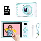 ieGeek Kids Selfie Camera for Girls and Boys 3-12 Year Old,Kids Digital Camera 1080P 2.8 Inch Touch Screen Dual Camera Kids Camcorder Video Recorder with 32G TF Card & Flash Light(Support Night Use)