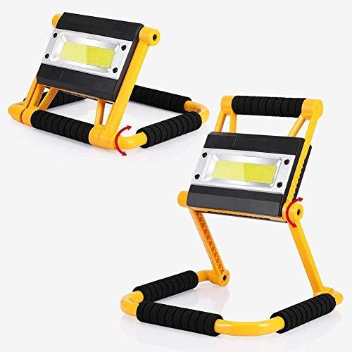 【𝐒𝐞𝐦𝐚𝐧𝐚 𝐒𝐚𝐧𝐭𝐚】 Luz portátil plegable, luz de inundación LED amarilla de 20W, para acampar de caza de iluminación al aire libre
