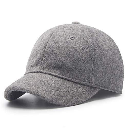 Winter Hat,Wool Felt Autumn Winter Hat Solid Color Short Soft Brim Lightweight Day Beret Hats Breathable Tweed Baseball Cap Elastic Sport Caps for Ladies Men Woman Outdoor Under 20 Warm Dark Drey