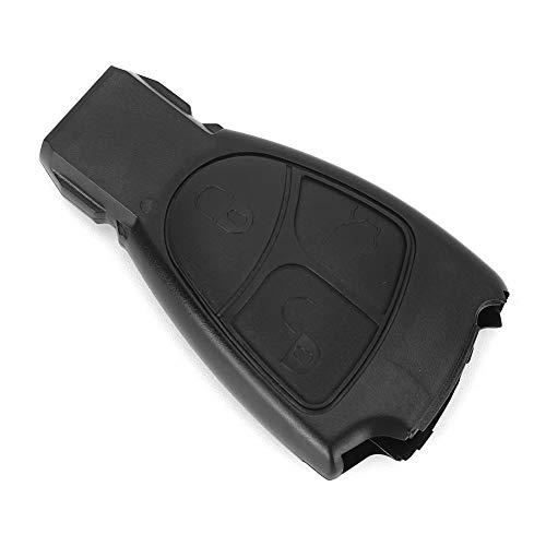 Carcasa para llave de coche, 3 botones Carcasa para llave de coche Carcasa de repuesto negra Ajuste para Mercedes-Benz C E ML S CLK CL