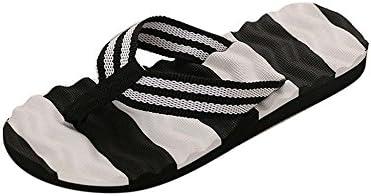 Sandalias cuña Mujer, Lanskirt Damas Zapatos de Playa Costura de Masaje de Fondo pellizcos Chanclas Mujeres Verano 2019 Raya Chancletas Suave Zapatillas casa de Color sólido