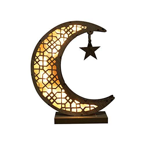 UNWSTYU, lampada a forma di luna, con stampa 3D, con metun, luce notturna per bambini, idea regalo per donne arabe e musulmane