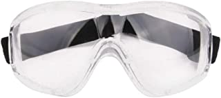 DPLUS Safety Goggles with Universal fit, Safety Glasses with Clear, Fog-Free, Anti Scratch and UV Protection Coated Lenses, Spectacles for Eye Protection (White)