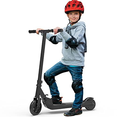 Riding' times Trottinette électrique pour Enfant, Scooter Pliable, Vitesse jusqu'à 7 km/h, 7 km de Longue portée, Moteur 120W, Temps de Charge 2 Heures, pour Enfant de 5 à 12 Ans