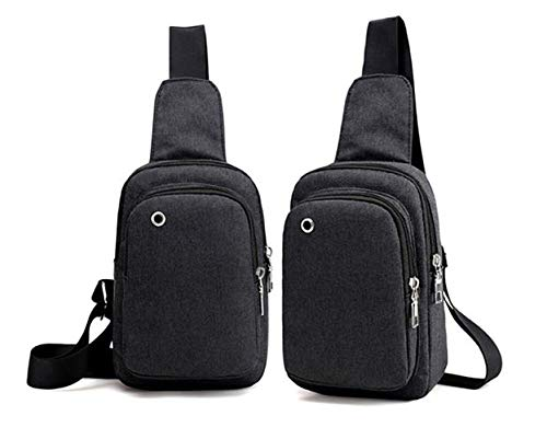 Mini Sling Tasche klein Umhängetasche täglichen Reise Tasche für Büro, Schule, Reisen Leicht Tagesrucksack schwarz schwarz 5.5(W)X9.0(H)X2.8(L)inch