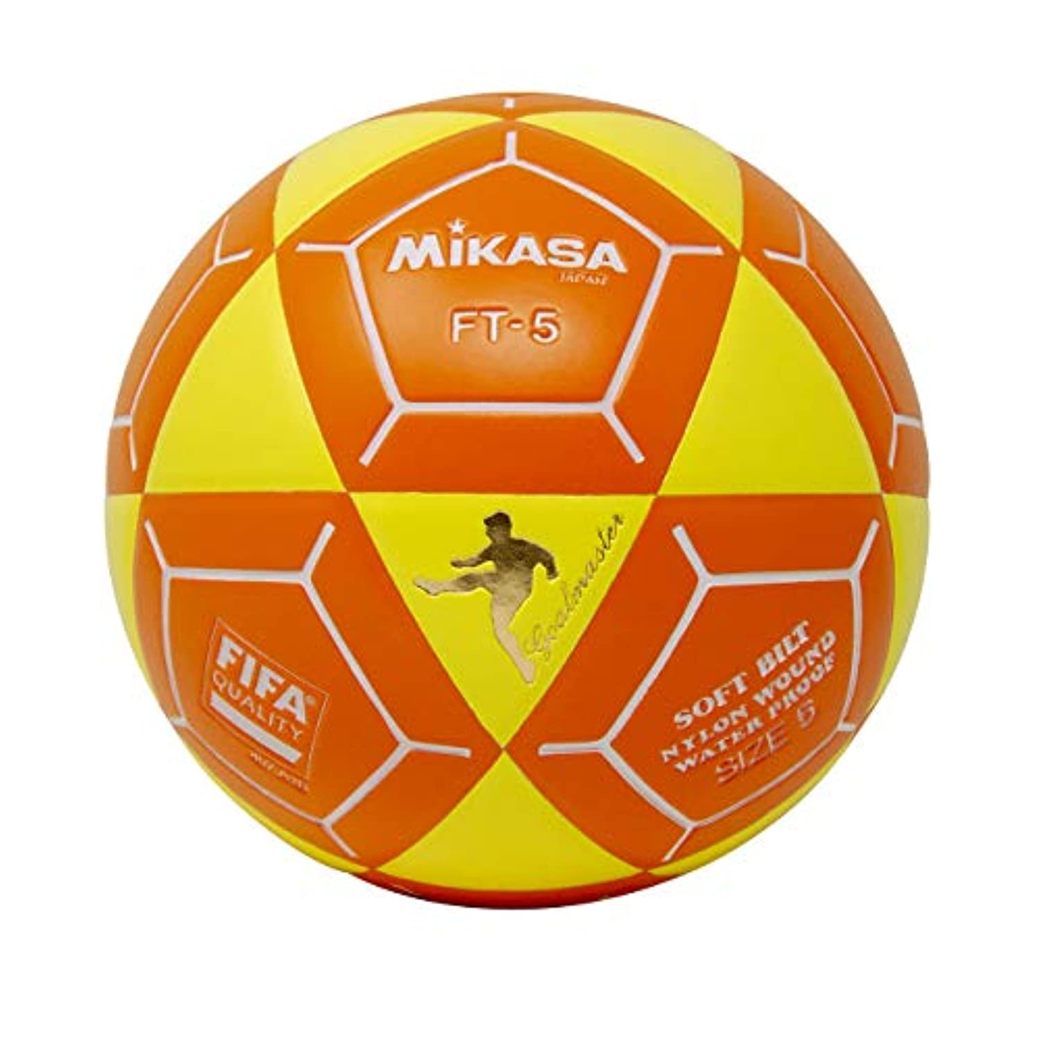 Mikasa FT5 Goal Master Soccer Ball, Yellow/Orange, Size 5