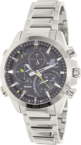 Casio Men's Edifice Quartz Watch with Stainless-Steel Strap, Silver, 20.54 (Model: EQB-500D-1ACF)