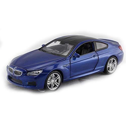 DXZJ Para BMW M6 1:32 coche de metal azul (luz voizada)