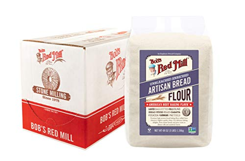 Bob's Red Mill Artisan Bread Flour, 3 Pound (Pack of 4)