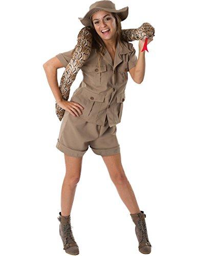 ORION COSTUMES Mujer caqui Guardiana del zoolgico disfraz de animal