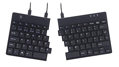 R-Go Split ergonomisch toetsenbord, Qwerty (UK), zwart, bedraad