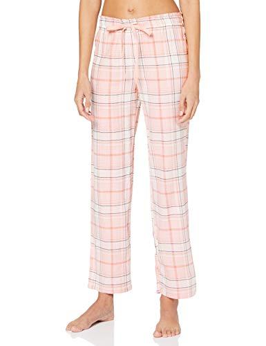 Women' Secret Pantalón Largo de Pijama Estampado Cuadros, Kaki Oscuro, L para Mujer