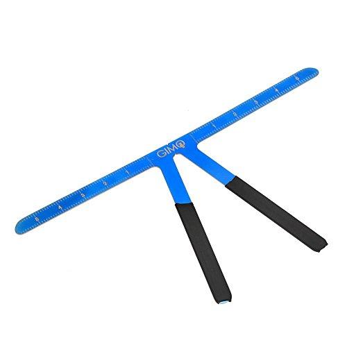 Modèle de sourcil, règle de positionnement à trois points maquillage permanent tatouage sourcil mesure règle symétrique équilibre toilettage outil de pochoir effet(Bleu)