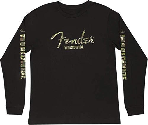 Fender Camo Logo L/S T-Shirt, Blk XL