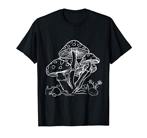 Goblincore Cottagecore Aesthetic Mushrooms for Fungi Lovers T-Shirt