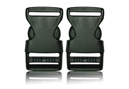 BOB-MEISTERWERK- Plastic buckles- plastic buckle closures- spare buckles - Best quality and very resistant- 1X50 MM- Made in Europe!