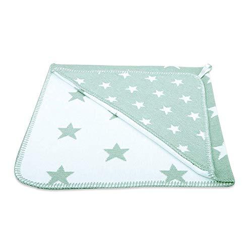 Baby's Only-Cape de bain Star vert menthe et blanc (80 x 80 cm) - Vert d'eau