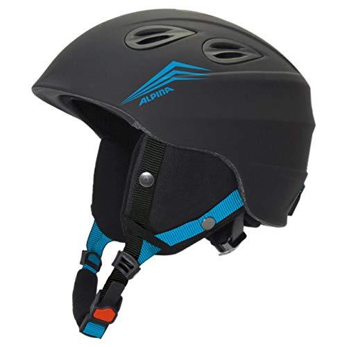 Alpina Sports Unisex– Erwachsene JUNTA 2.0 Skihelm, Black-Cyan matt, 57-61