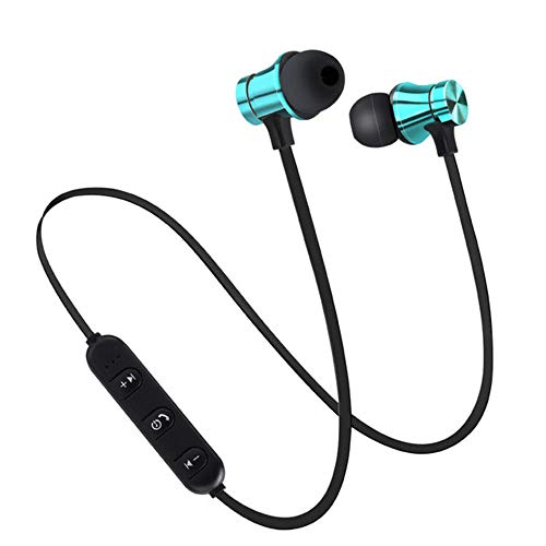 Generies Wireless Bluetooth Earphones With Neckline And Microphone Earphones, Four Colors (Blue, Black, Gold, Silver) Suitable For Sports.