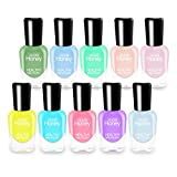 Abitzon New Nail Polish Set (10 Bottles) - Non-Toxic Eco-Friendly Easy Peel Off & Quick Dry Water Based Nail Polish
