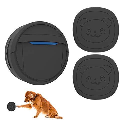 WPY Timbre para Perros inalámbrico, Timbre con botón IP55 a Prueba de Agua para Perros, Timbre para Entrenamiento de Mascotas Incluye 2 transmisores y 1 o 2 receptores